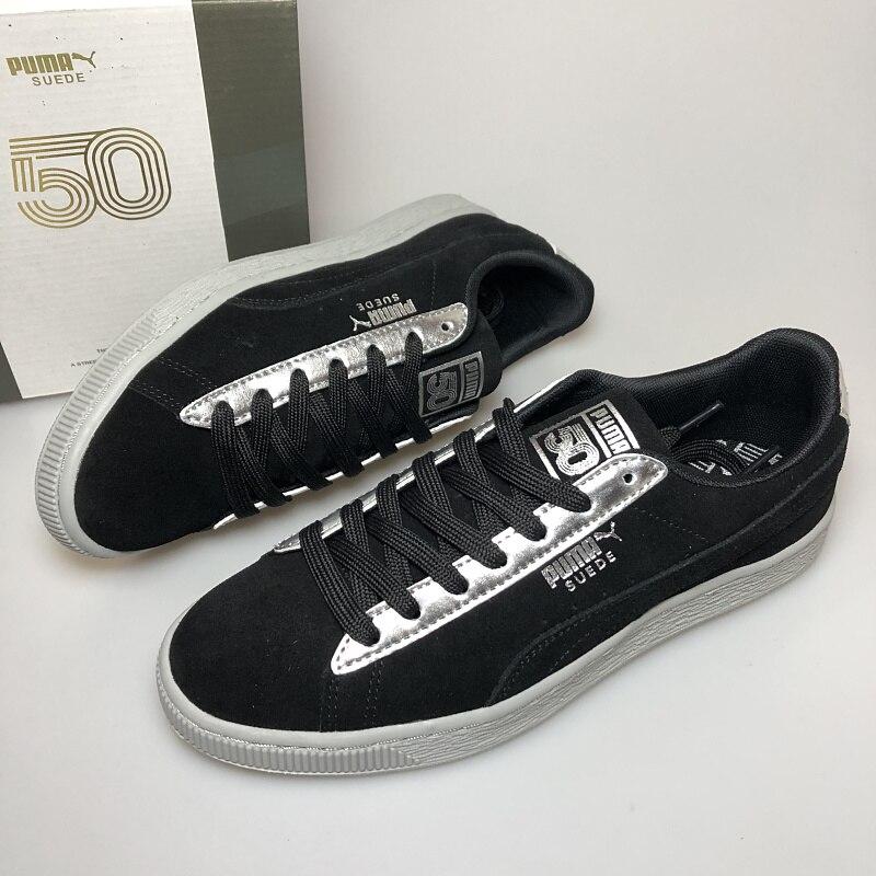 Original Puma Suede Classic X Chain Womens And Mens Sneakers Black Lace Up Closu