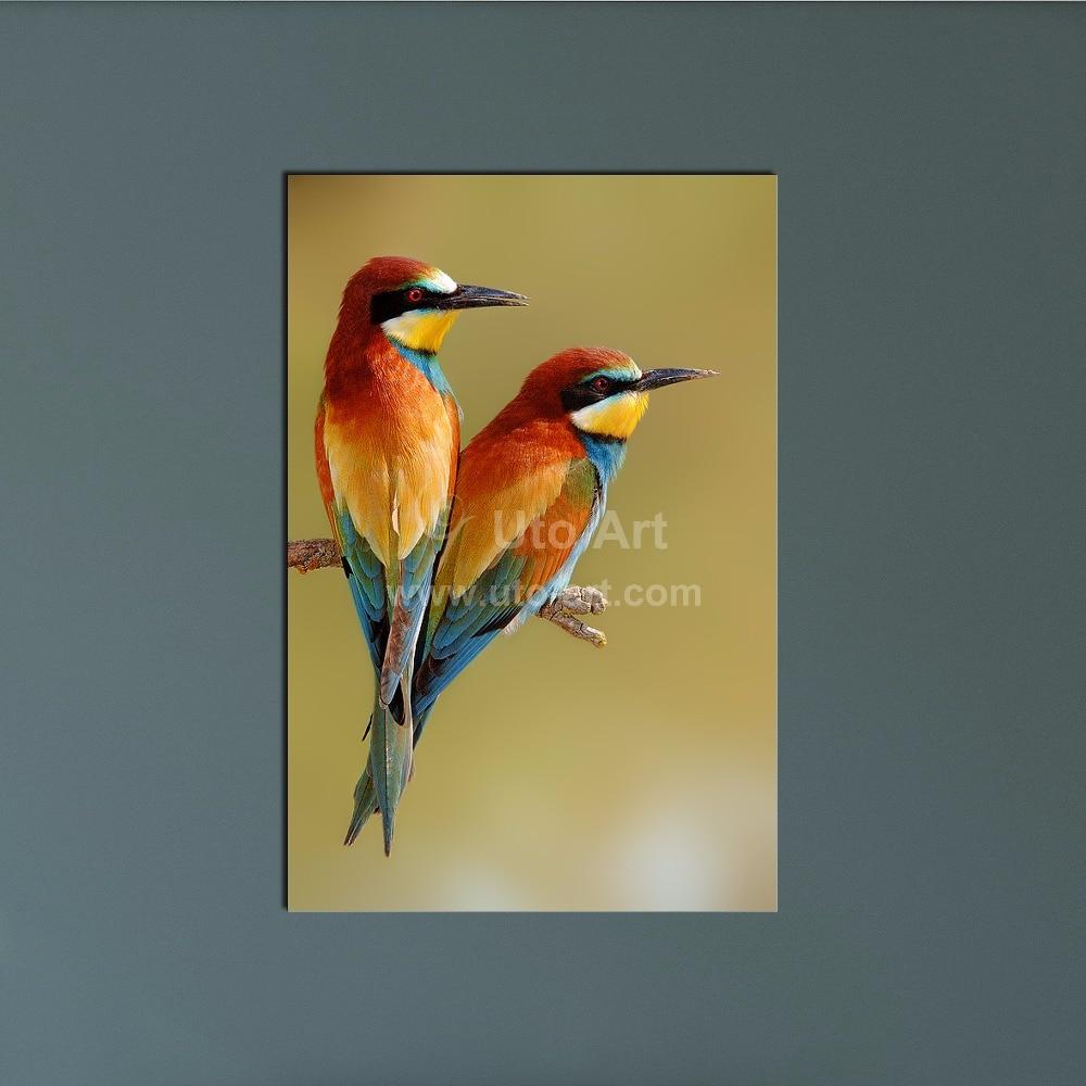 Cheap Custom Canvas Prints Painting Animal Bird Modular Patterns on ...