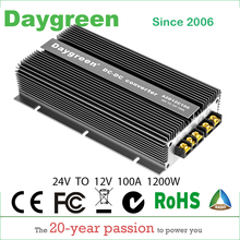 24V TO 12V 30A 60A 100A Newest Technology DC DC Step Down Converter Reducer Daygreen CE RoHS 15 Years Lifetime For Car