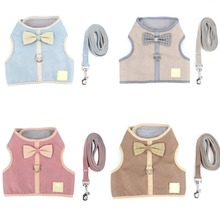 Breathable Soft Leash Attachment Dog Pet Harness Korean Style Butterfly Bow Cat Vest for Small S M L