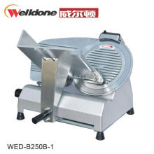 "WED-B250B-1 10"" inch commercial meat slicers household meat cutter sliceable hand pork with base plate,frozen meat cutter"