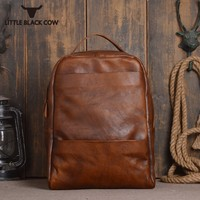 Ретро Модные для мужчин пояса из натуральной кожи рюкзаки офисные повседневное бренд 15 ''ноутбук рюкзак высокое качество Mochilas Escolares