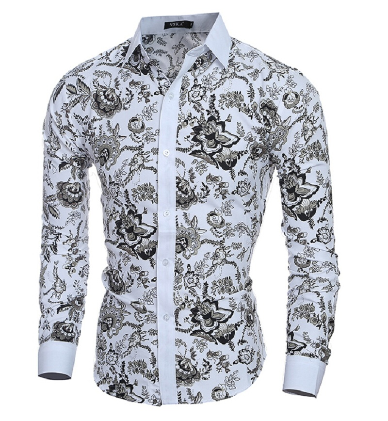 Мужская рубашка PolkaFloral