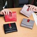 Новый 2017 женщина короткий Кожаный бумажник первый слой кожи кошелек тридцать процентов скрытых блокировки нулевой бумажник