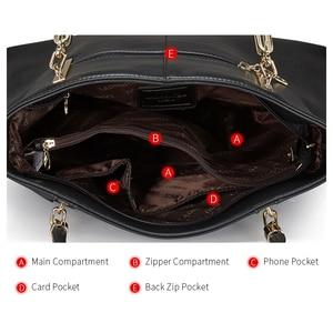 Image 5 - Laorentou mulheres topo bolsas de luxo senhora couro bolsa casual totes bolsas femininas crossbody bolsas de ombro bolsa feminina
