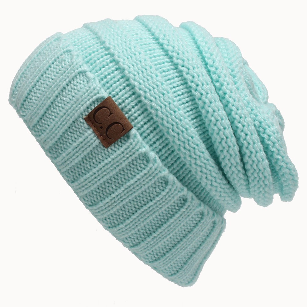 4a5b55955 Unisex Winter Chunky Soft Stretch Cable Knit Slouch Beanie Skully Ski  Hat-in Skullies & Beanies from Women's Clothing & Accessories on  Aliexpress.com ...