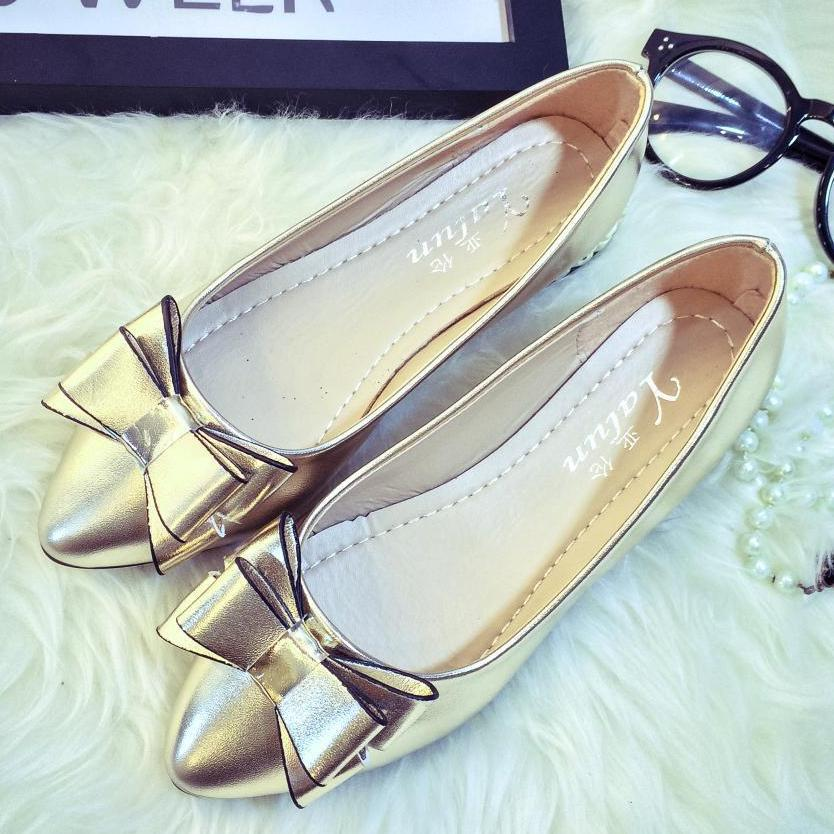 Women Flat Bow Pointed Toe Fashion Spring Summer Slip On Loafers Boat Shoes 2018 New Arrival Lazy Shoes Comfortable Ballet Flats odetina 2017 brand fashion women casual flat spring shoes pointed toe ballet flats bowknot slip on loafers ballerinas plus size
