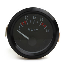2 inch Voltmeter Gauge Meter 8-16V Racing Car volt Gauge Volts Gauge Meter Gauge Instrument Car / Boat /Truck /ATV(China)