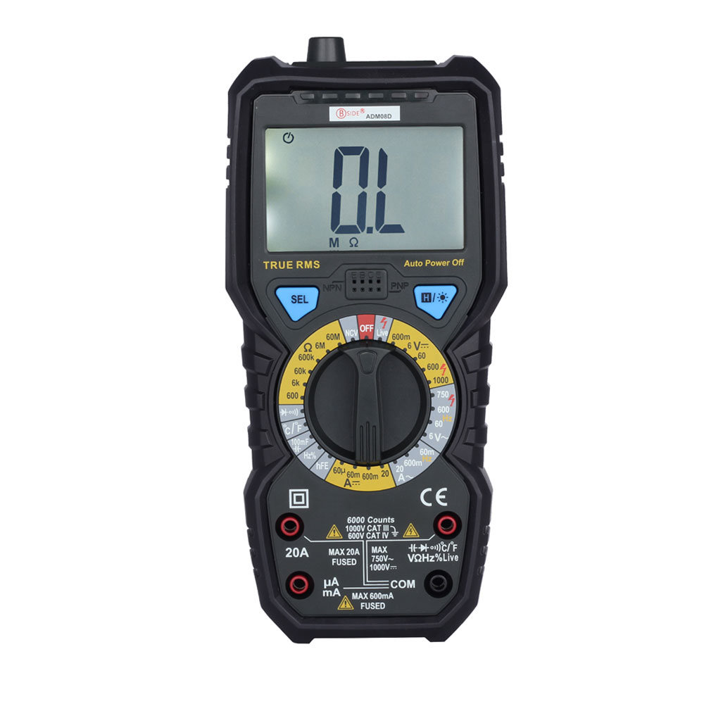 BSIDE New Arrival 6000 Counts True RMS Digital Multimeter with Temperature Measurement professional victor vc890c digital multimeter true rms multimeter 2000uf capacitor temperature measurement