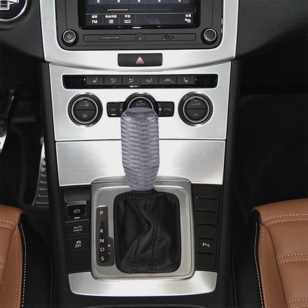 Black Carbon Fiber Ball Gear Shift Shifter Knob For Manual ...