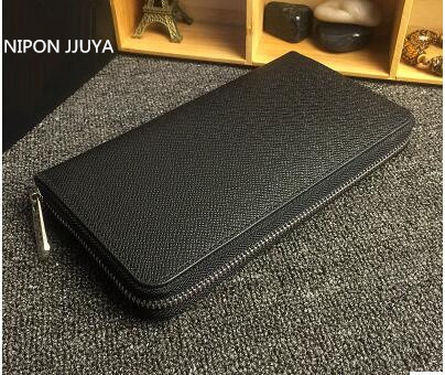 Hot selling!! 2017NIPON JJUYA new fashion business casual large capacity high quality Genuine Leather Long zippy Wallets