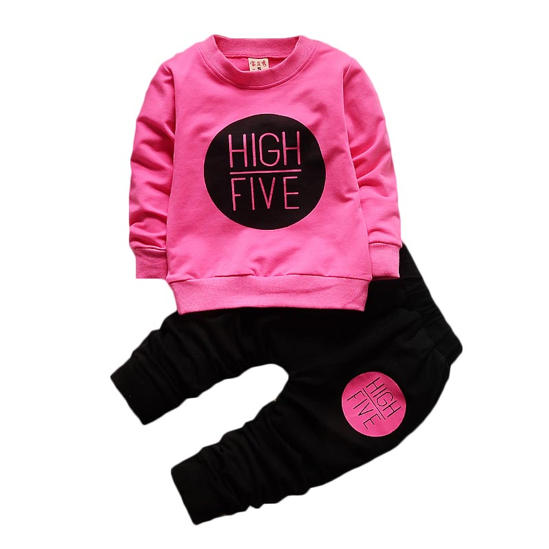 Girls Clothing Sets 2017 Brand Active Suits Clothes Long Sleeve Sweatshirts+Pants 2Pcs Kids 1-4Y