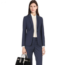 2019 Custom Women 2 Pieces set Shawl Collar Formal Pant Suit Office Lady Uniform Designs for Women Business Suits Work Wear(China)