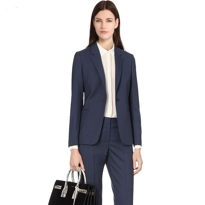 2019 personnalisé femmes 2 pièces ensemble col châle pantalon formel costume bureau dame uniformes conceptions pour les femmes d'affaires costumes travail porter