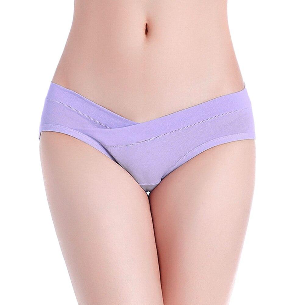 Новые мягкие воздухопроницаемые трусики для беременных женщин бесшовные u-образный хлопок нижнее белье трусы@ ZJF - Цвет: Фиолетовый