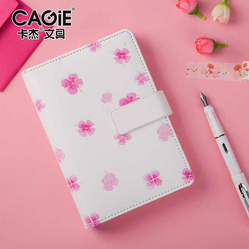 CAGIE 2017 Kawaii A6 Planner Travel Diary Notebook Cute Filofax Agenda Organizer Spiral Sketchbook Notebooks and Journals creative hollow leather spiral notebook cute school agenda organizer binder diary planner travel journal filofax stationery a5a6