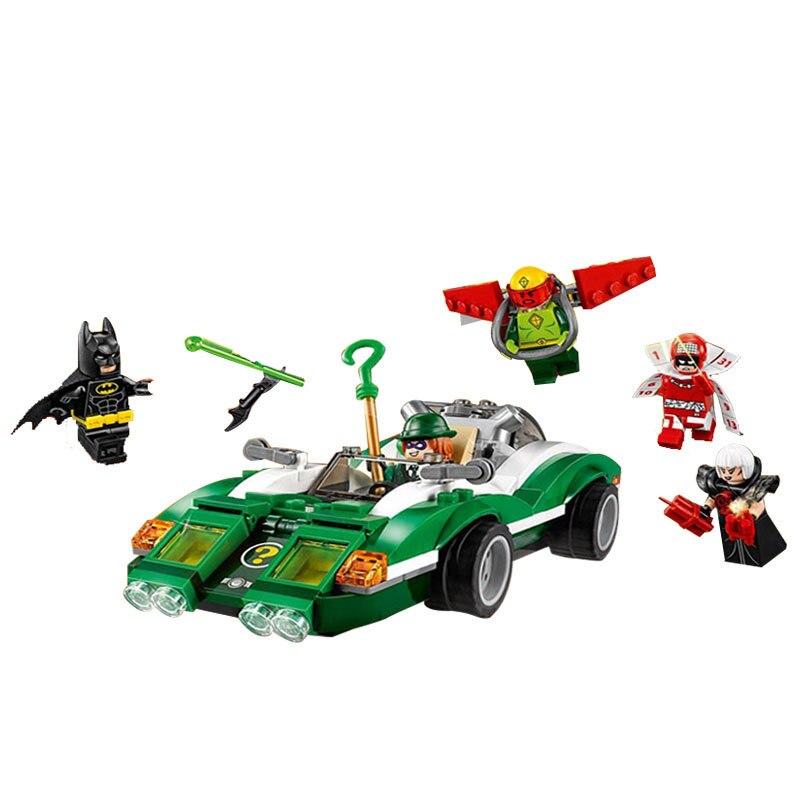 ЛЕПИН Серия Бэтмен Riddler Загадка Гонщик Строительные Блоки Кирпичи Фильм Модель Детей Игрушки Marvel Совместимость Legoe
