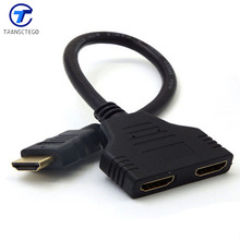 Twin HDMI cable one point two cable adapter plug audio video cable connectors for HD TV LCD PS3 projector computer cable