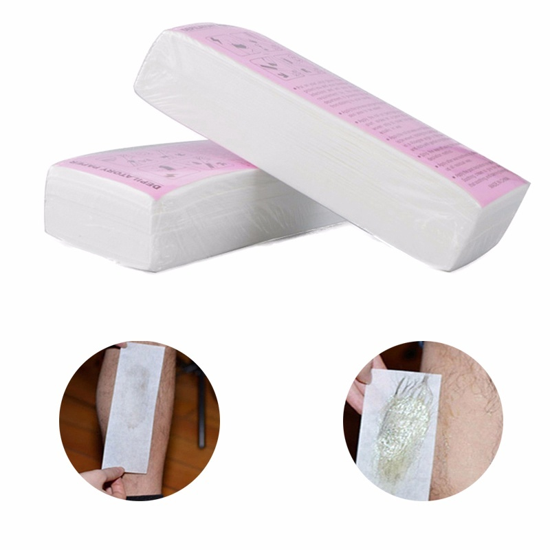 Image 2 - 100pcs Removal Nonwoven Body Cloth Hair Remove Wax Paper Rolls High Quality Hair Removal Epilator Wax Strip Paper-in Hair Removal Cream from Beauty & Health