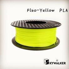 3d-drucker filament pla filament 1,75/3mm fluoreszenz gelb farbe pla freies verschiffen pla filamento 1 kg 3d extruder