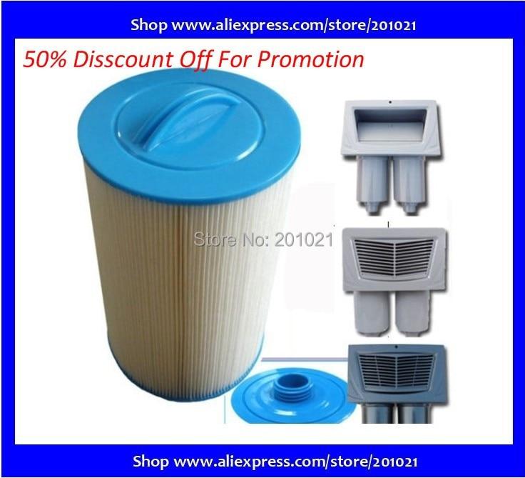 Venda quente elemento de filtro spa Pleatco Unicel 6CH-940 PWW50 205mm x 150mm, with38mm buraco banheira de água quente sistema de cartucho de filtro elemento