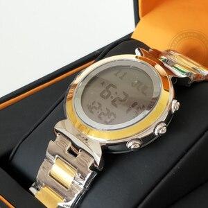 Image 2 - Origin AL Harameen Muslim Watch for Lady Prayer Azan Watch Waterproof Best Islamic Wife gift Auto Qibla Azan clock Paper Box