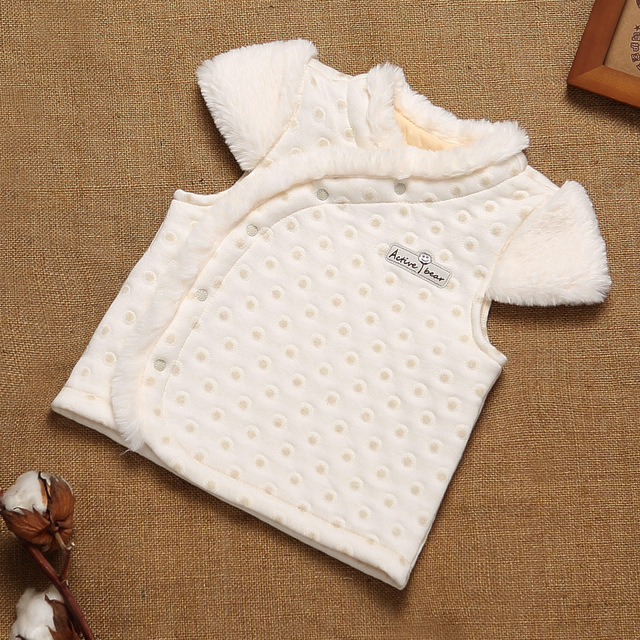2017 Bebé Recién Nacido Chaleco Otoño Invierno Faux Fur Coat para Niños Toddler Girls Chalecos Outwear Ropa Trajes de Algodón Orgánico