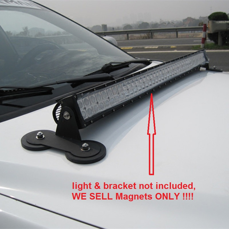 Yvoone-Auto Adjustable Powerful Mount Bracket Sucker Holder Magnetic Base f//Roof Led Light Bar for Straight Curved Side-Mounted LED Light Bar Mounting on Hood Roof
