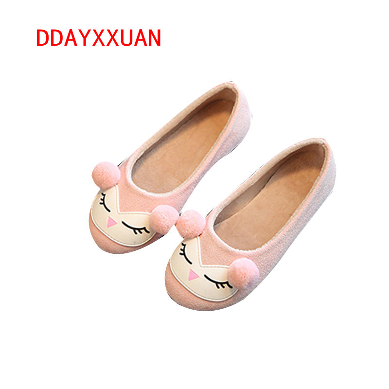 Girls Fashion Sneakers Kids Bow Causal Flat cartoon shoes Girls Princess Party Shoes Children Slip-On School cute Shoes
