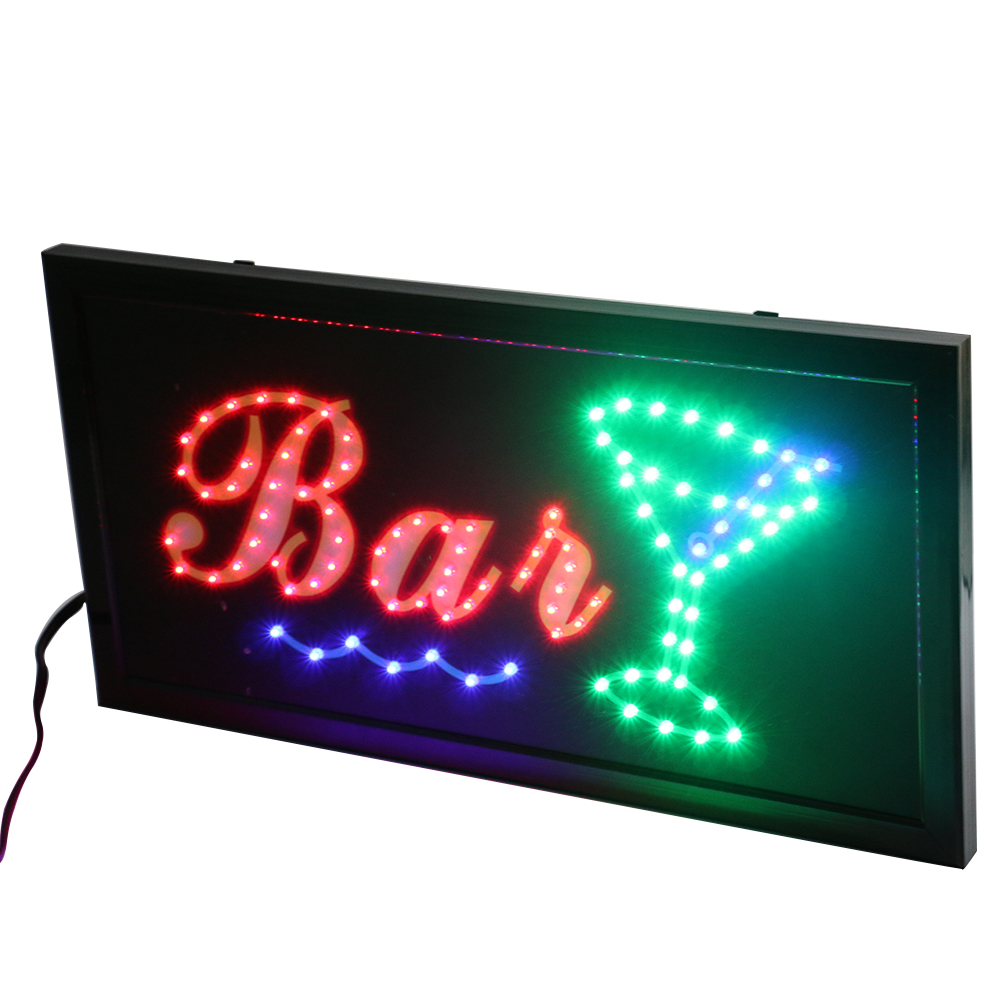 QUALITY FLASHING COCKTAIL WINE BAR BEER LED sign board new shop signs