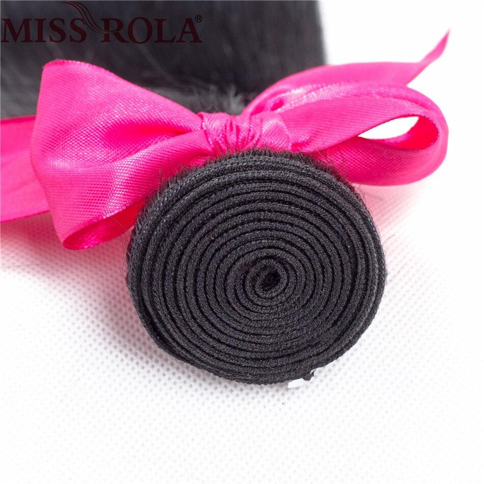 Miss Rola Haar Braziliaanse Steil Haar Weave 8-26 Inches 100% - Mensenhaar (voor zwart) - Foto 4