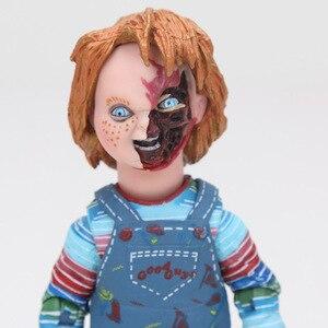 Image 5 - NECA Scary chucky Figuur Speelgoed Horror Films Kind Spelen Bruid van Chucky 1/10 Schaal Horror Pop speelgoed
