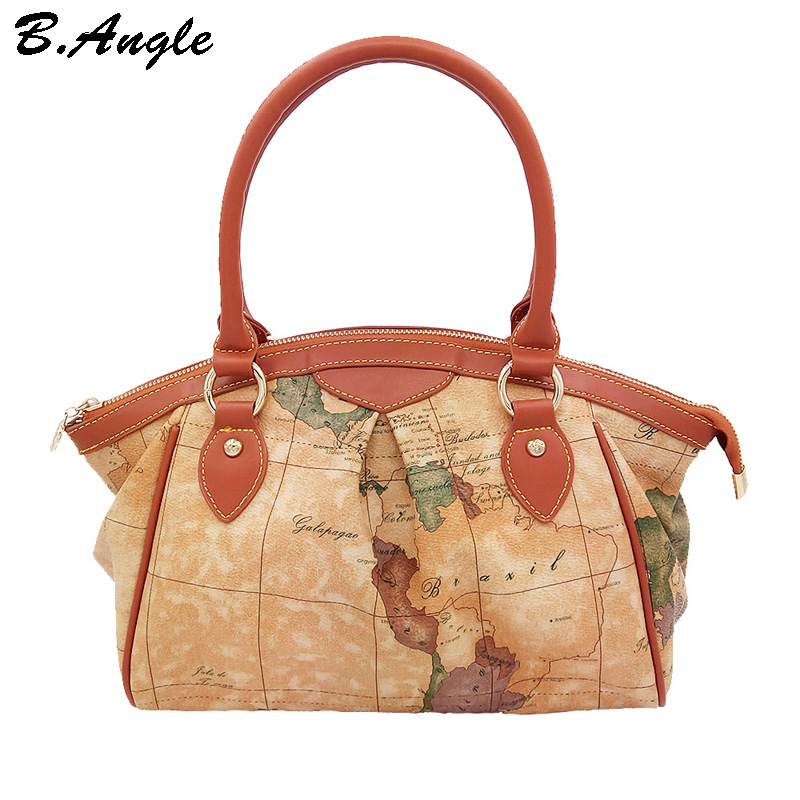 New fashion high quality world map dotor women bag bags shoulder bags dollar price