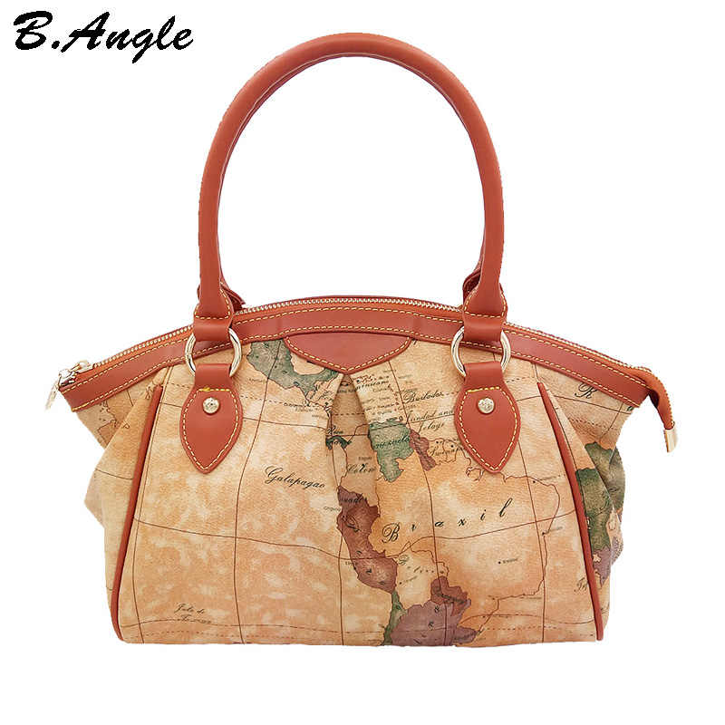 Новая мода высокого качества карта мира dotor женская сумка сумки на плечо доллар цена