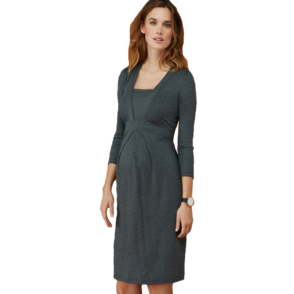 Lycra Pregnant Women Maternity Dress Spring Elegant Office Lady Costume Business Dresses for Working Mommy Pregnancy Clothes недорго, оригинальная цена