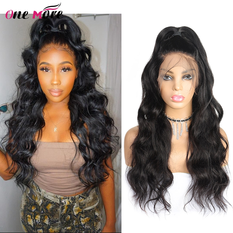 One More Peruvian Lace Front Human Hair Wigs Non Remy Hair Body Wave Hair Extension Peruvian Body Wave Wigs For Black Women