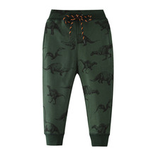 Jumping meter/штаны для мальчиков с изображением животных; г. Одежда для малышей; спортивные штаны с динозаврами для мальчиков от От 2 до 7 лет; длинные штаны; детские брюки