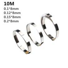 10 м 8 мм x 0,1/0,12/0,15 Чистый Никель полоса лента для Li 18650 батареи точечной сварки совместима для точечной сварки машины