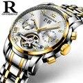 Tourbillon Скелет механические часы для мужчин автоматические часы спортивные роскошные топовые брендовые полностью стальные часы Relogio Masculino му...