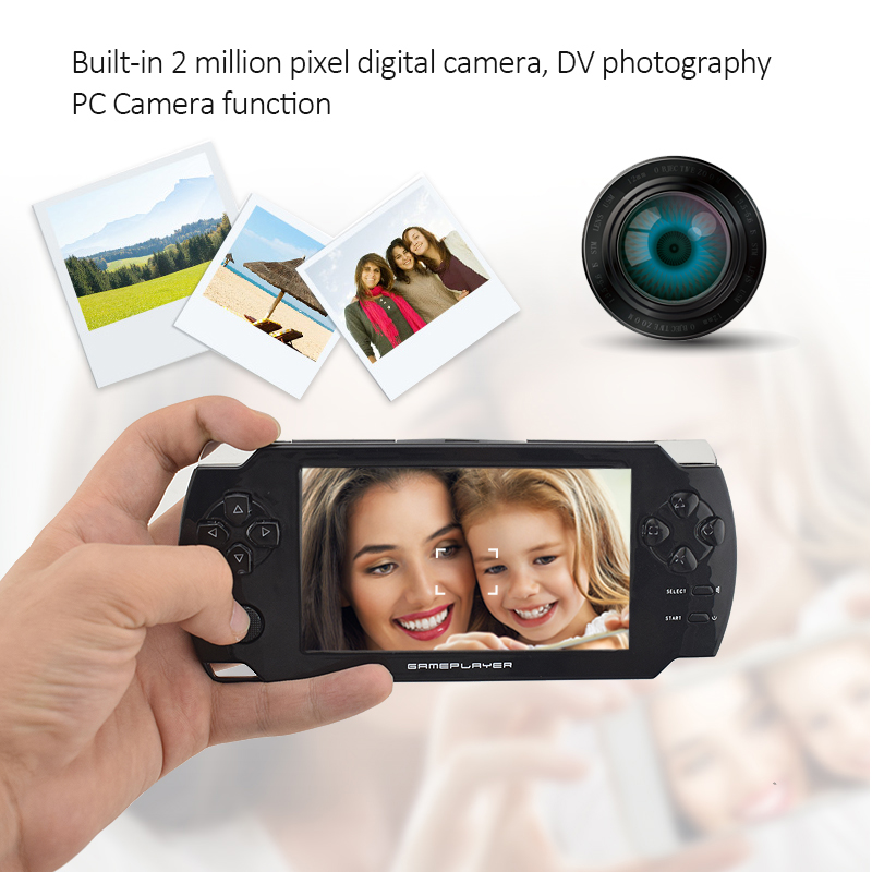 Handheld Game Players with 4.3 inch HD Screen Game 32bit Portable Game Consoles Suport PS1 GBA Copy Game file with 8GB RAM 5
