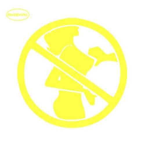 HotMeiNi لا تلمس الثدي مضحك المغفلون المتعرية ملصق سيارة الزجاج الأمامي الخلفي مصد للسيارات المحمول الفن جدار نكتة JDM ملصق حائط من الفينيل