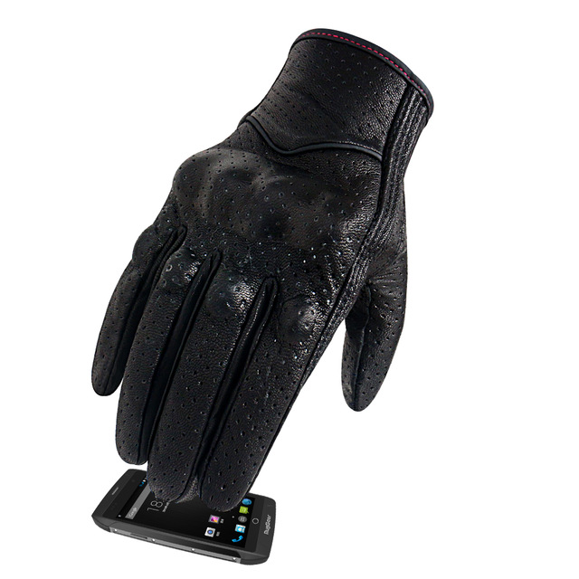 Motorcycle Gloves Women S M Touch Leather Goatskin Guantes Summer Cycling Glove Female Motocross Motorbike Luvas Motorcycle