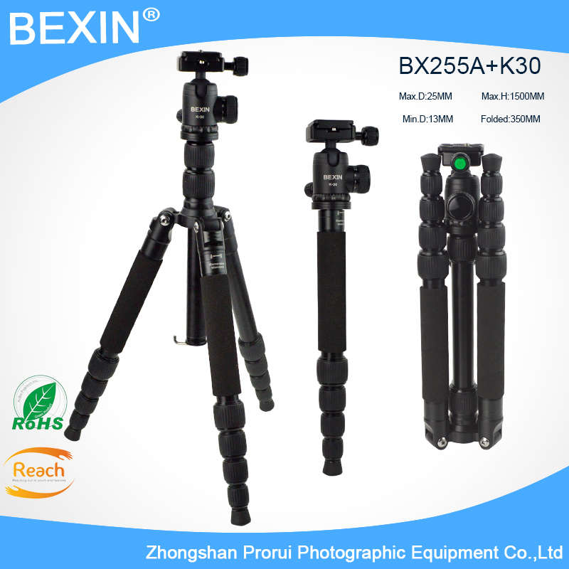 Aluminum Professional Portable Tripod For DSLR camera Portable / SLR Camera stand Ball Head Monopod Changeable Load Bearing 8KG free shipping velbon aluminum ball head qhd u4q for dslr camera tripod