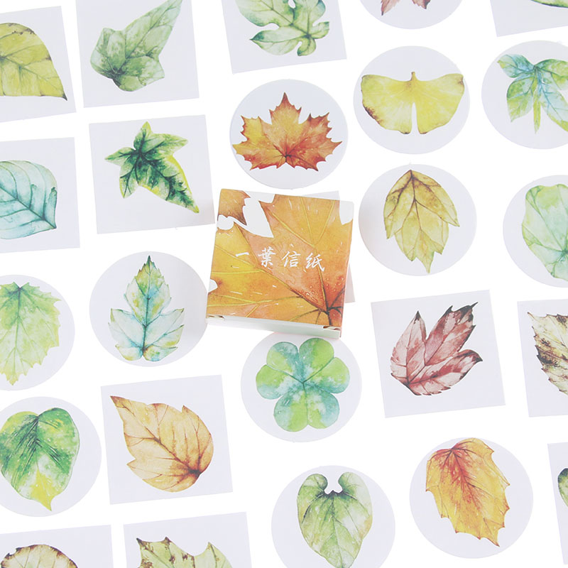 40 pcs/set Creative Various Leaves Stickers Adhesive Stickers DIY Decoration Stickers bohemia ivele crystal подвесная люстра bohemia ivele 1402 8 195 g balls tube