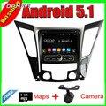 8 ''quad core android 5.1 gps do rádio de carro para hyundai sonata 2011-2013 Com 16 GB FLash Vídeo DVD Estéreo Ligação Espelho Frete Grátis