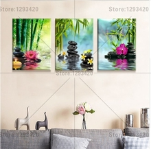 5D diamond embroidery square sets full decorative diy painting Orchid stone bamboo 3pcs cross stitch