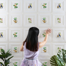 3D New Fashionable Chinese Style Wallpaper for Kids Room TV Background Self-Adhesive Wall Murals Creative Waterproof Room Decor