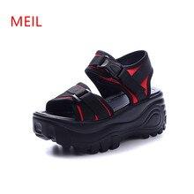 купить Sandales Femme 2018 Nouveau Students Flat Platform Sandals Zapatos Mujer Chaussures Femme Scarpe Donna Women Gladiator Sandals по цене 1541.01 рублей
