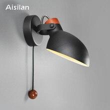 Aisilan простые креативные бра led спальня фойе кабинет Скандинавский дизайн гостиная коридор настенные светильники-бра для гостиницы гостиничный коридор