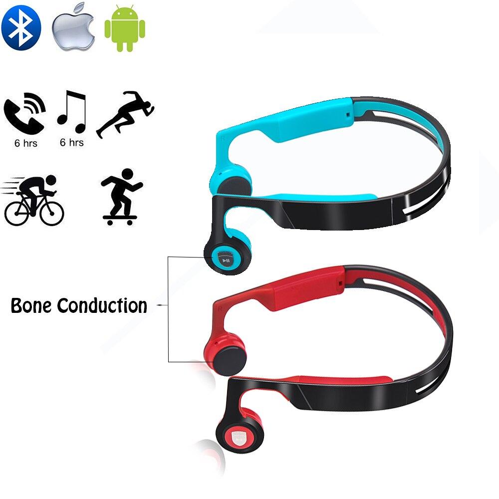 Écouteurs Bluetooth à Conduction osseuse avec micro, pour conducteurs, cyclistes de plein air et personnes âgées ayant une déficience auditive